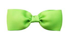 Łęku zielony krawat Zdjęcia Royalty Free