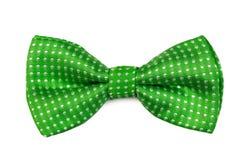 Łęku zielony krawat Obrazy Stock