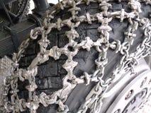 łańcuchów śniegu ciężarówka Zdjęcia Royalty Free