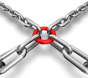 łańcuchów czerwieni pierścionek Obrazy Stock
