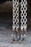 łańcuchów haczyki Fotografia Stock