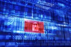 łańcuchów pojęcia konwencjonalny odbitkowy dane projektów przyrządu hdd blokujący kłódki dobro zabezpieczać zawijającą ochrony pr ilustracja wektor