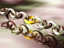 łańcuch 3 d Obraz Royalty Free