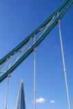 Łańcuch Basztowy most i czerep w tle Obraz Stock