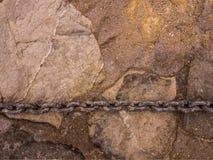 Łańcuch dalej stonewall obraz stock
