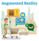 Łańcuch dostaw zwiększająca rzeczywistość Obrazy Stock