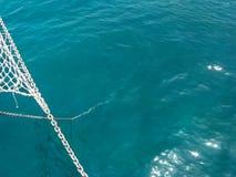 Łańcuch iść w głębie morze Fotografia Royalty Free