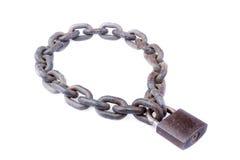 Łańcuch i kłódka Zdjęcia Stock