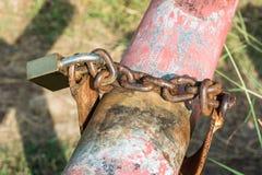 Łańcuch z kluczowym kędziorkiem Zdjęcia Royalty Free