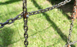 Łańcuchy i śruba Obrazy Royalty Free