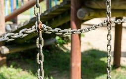 Łańcuchy i śruba Zdjęcia Stock