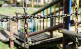 Łańcuchy i śruba Zdjęcie Stock
