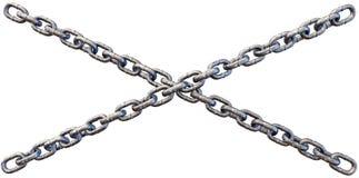 Łańcuchy Krzyżuje zakończenie Zdjęcie Royalty Free