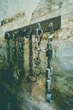 Łańcuchy przy fortem 13 Jilava Fotografia Royalty Free