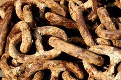 łańcuchy rdzewiejący Zdjęcia Stock