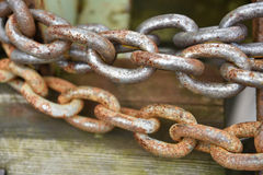 łańcuchy rdzewiejący Fotografia Stock