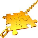 łańcuchy zbierać złociste łamigłówki Zdjęcia Stock