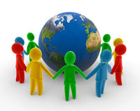 łańcuszkowa globalna istota ludzka ilustracji