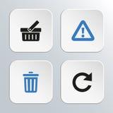 łańcuszkowa ikona kędziorka sieć Fotografia Stock
