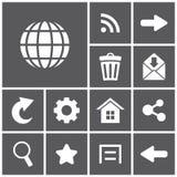 łańcuszkowa ikona kędziorka sieć Obrazy Stock