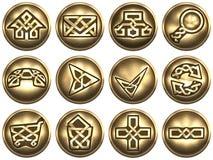 łańcuszkowa ikona kędziorka sieć celta styl Obraz Royalty Free