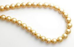 łańcuszkowa pearl złoto obrazy royalty free