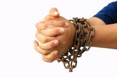 łańcuszkowa ręka Obrazy Royalty Free