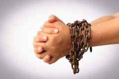 łańcuszkowa ręka Zdjęcia Stock