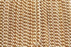 łańcuszkowa złoty naszyjnik Fotografia Stock