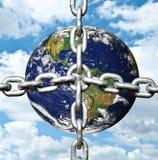 łańcuszkowa ziemska planeta ilustracja wektor