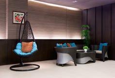 łańcuszkowego krzesła wisząca hotelu lobby kanapa Obrazy Stock