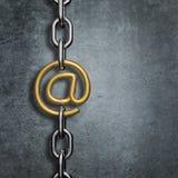 Łańcuszkowego połączenia email Fotografia Stock