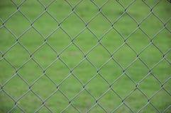 Łańcuszkowego połączenia ogrodzenia selekcyjna ostrość Fotografia Royalty Free
