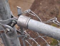 Łańcuszkowego połączenia ogrodzenia zbliżenie Obraz Stock