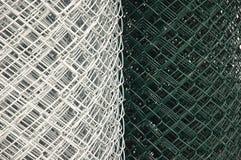 Łańcuszkowego połączenia ogrodzenia zwitki Fotografia Royalty Free