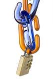 łańcuszkowej kombinaci szklany połączeń kędziorek obraz stock