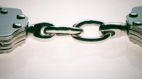 łańcuszkowi kajdanki z dwóch Zdjęcia Stock