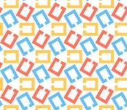 Łańcuszkowi połączenia, abstrakcjonistyczny geometryczny bezszwowy wzór. Ilustracji