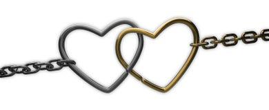 łańcuszkowi serca dwa Fotografia Royalty Free