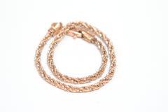 łańcuszkowy bransoletki złoto zdjęcie royalty free
