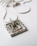 łańcuszkowy breloczka srebra zdjęcie royalty free