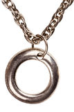 łańcuszkowy breloczka srebra Fotografia Stock
