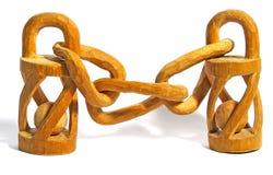 łańcuszkowy drewniany Fotografia Royalty Free