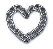 Łańcuszkowy miłości serce Fotografia Royalty Free