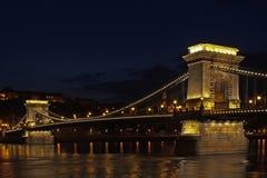 Łańcuszkowy most Budapest Węgry Zdjęcia Stock