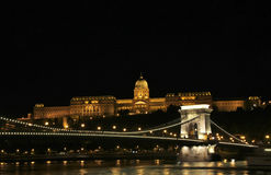 Łańcuszkowy most w Budapest Fotografia Royalty Free