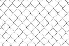 łańcuszkowy ogrodzenie odizolowywający kulisowy biel Zdjęcie Stock