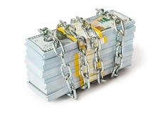 łańcuszkowy pieniądze zdjęcia stock