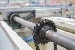Łańcuszkowy prowadnikowego dyszla linii konwejer Przemysłowy Obrazy Royalty Free