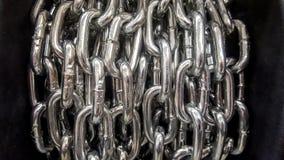 Łańcuszkowy rozsypisko - abstrakcjonistyczny metalu tła zakończenie up Zdjęcia Royalty Free